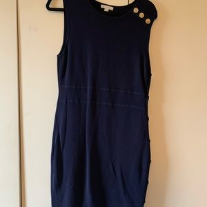 Navy blue sleeveless career dress - L - NY&Co